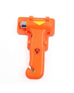 Plastic Grip Auto Bus Safety Seat Belt Cutter Glass Break Hammer Orange Red
