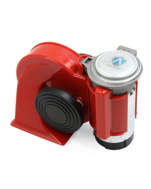 Black Red Plastic Shell Compact Air Horn Loud 12V for Car Truck