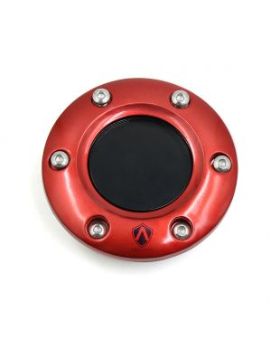 """3.3"""" Dia Red Plastic Vehicles Car Steering Wheels Horn Button"""